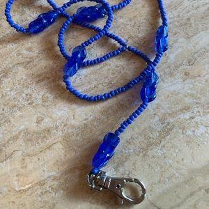 Lanyard blue vintage beads